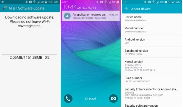 Samsung Galaxy Note 3, Note 4 on AT&T receiving Lollipop update