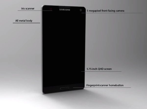 Samsung Galaxy Note 4 vision has style c