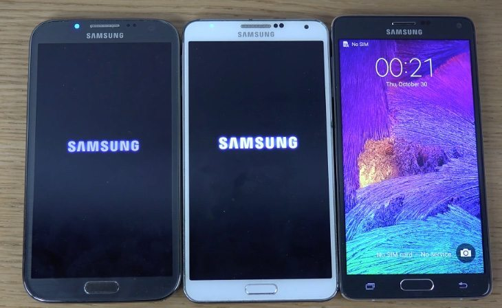 Samsung Galaxy Note 4 vs Note 3 vs Note 2 b