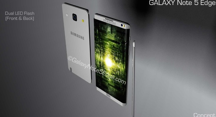 Samsung Galaxy Note 5 Edge design with new feature