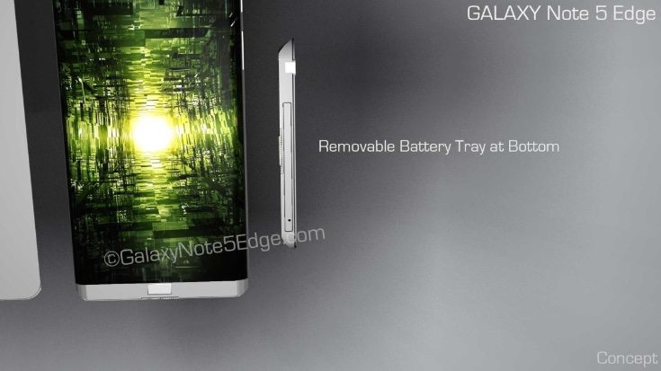 Samsung Galaxy Note 5 Edge design