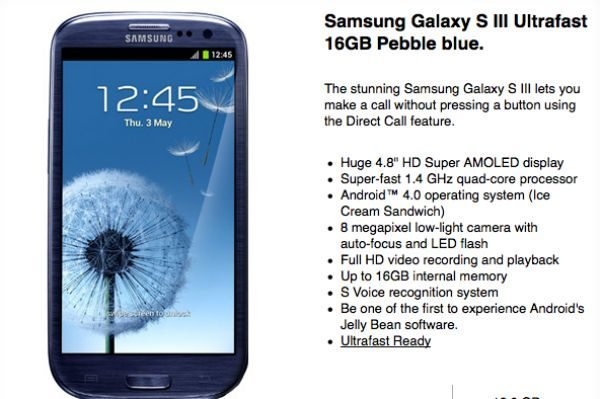 Samsung Galaxy S3 Ultrafast with full DC-HSDPA and LTE