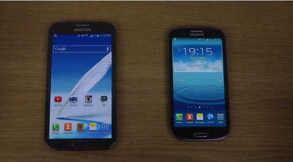 Samsung Galaxy S3 vs Galaxy Note 2, 4.4 vs 4.3 speed