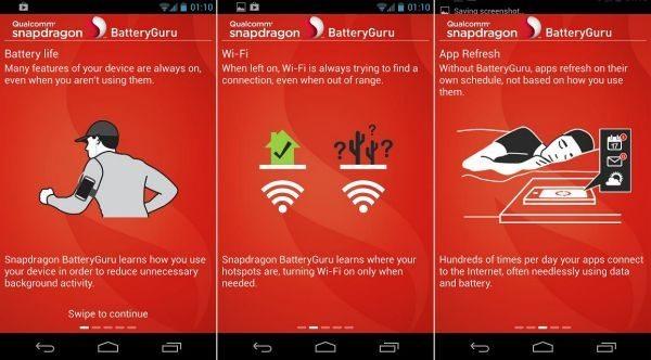 Samsung Galaxy S4, Nexus 4 battery life increases via app screenshot