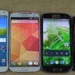 Samsung Galaxy S5 v S4, S3, S2