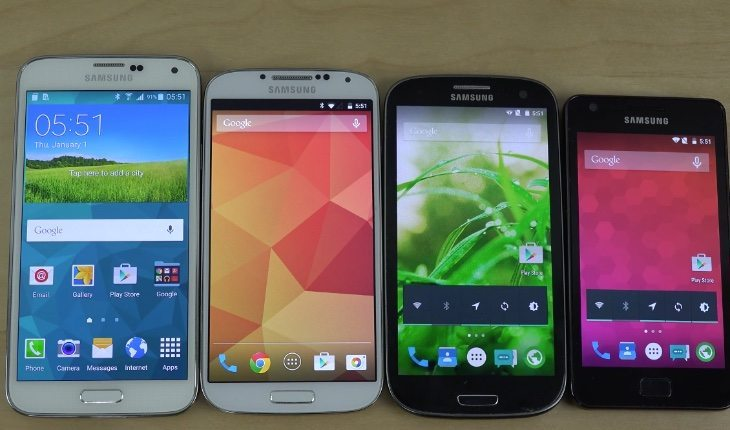 Samsung Galaxy S5 vs S4, S3, S2 Android Lollipop boot speed test