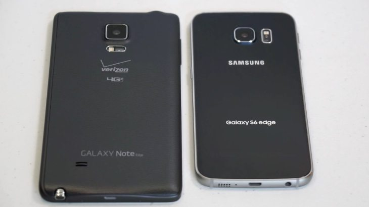 Samsung Galaxy S6 Edge vs Galaxy Note Edge b