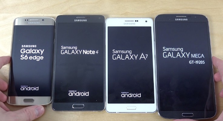 Samsung Galaxy S6 Edge vs Note 4, A6, Mega 6.3
