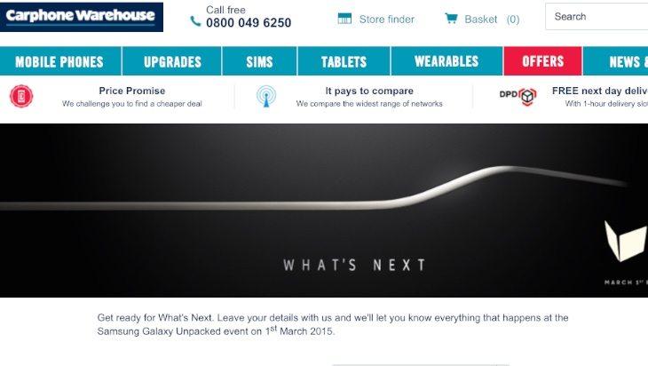 Samsung Galaxy S6, HTC One M9 Carphone Warehouse UK pre-registrations