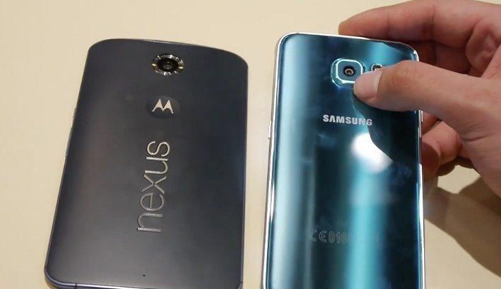 Samsung Galaxy S6 vs Nexus 6 b