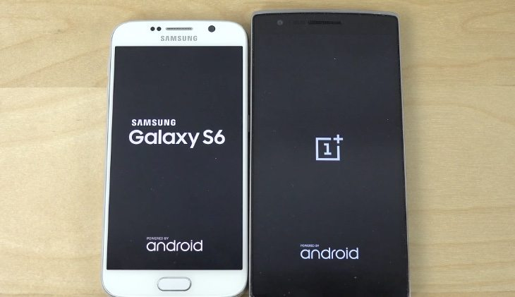 Samsung Galaxy S6 vs OnePlus One bootup speeds compared