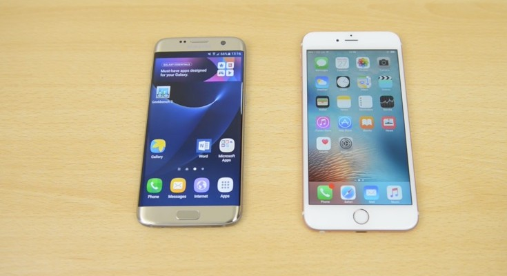 Samsung Galaxy S7 Edge vs iPhone 6S Plus speed testing