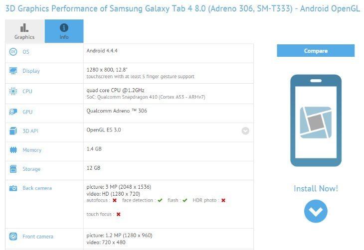 Samsung Galaxy Tab 4 8.0 refresh