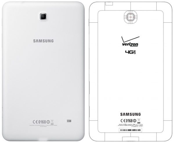 Samsung Galaxy Tab 4 8.0 with Verizon branding appears