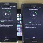 Samsung Galaxy note 4 vs Galaxy Note Edge Android Lollipop benchmark