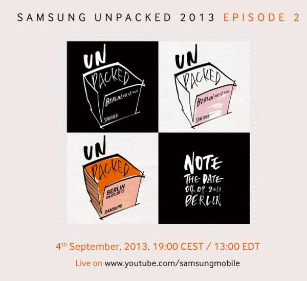 Samsung Unpacked invites go out with live streaming details