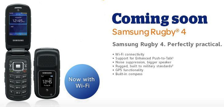 Samsung Rugby 4 is headed to AT&T on October 10