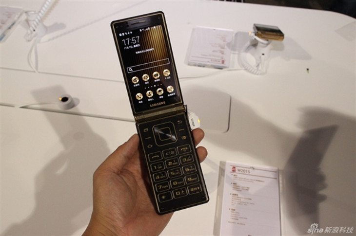 The Samsung W2015 is a high-end Flip Phone