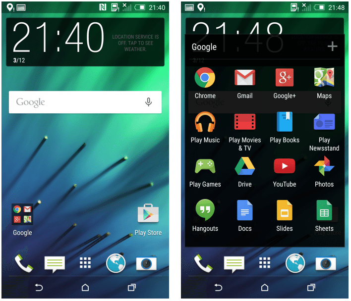 Android 5.0 Lollipop and Sense 6.0 for HTC One M8 leaked in screenshots