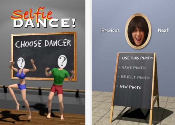 Selfie Dance app for iPhone and iPad entertains