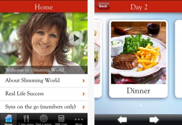 Slimming World app surely due an update