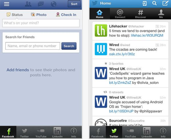 Socialite for iPhone allows convenient social networking interactions