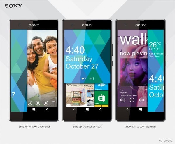 Sony Vaio F1  Windows Phone 9 design
