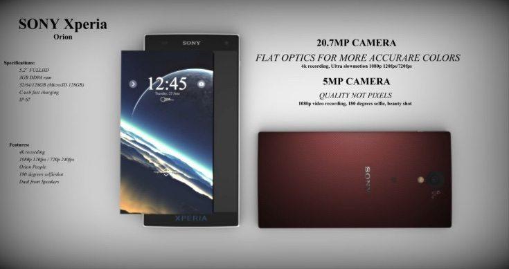 Sony Xperia Orion design