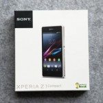 Sony Xperia Z1 Compact seen in retail packaging