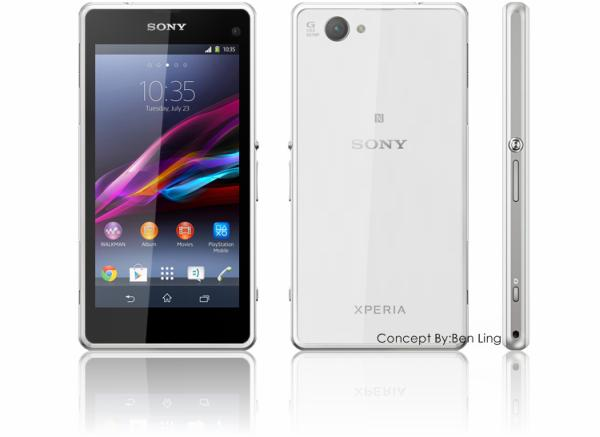 Sony Xperia Z1 Mini render created before launch