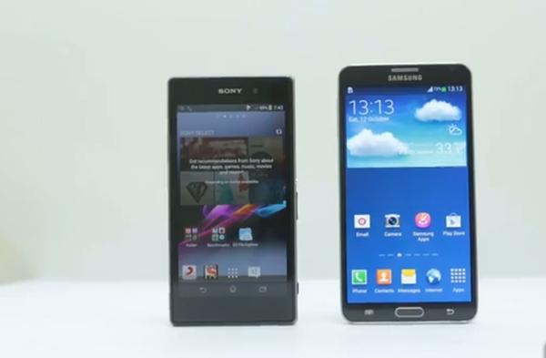 Sony Xperia Z1 vs LG G2 vs Galaxy Note 3