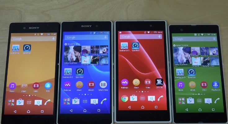 Sony Xperia Z3 Plus vs Xperia Z2, Z1, Z