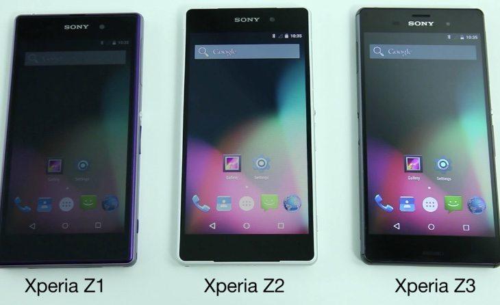 Sony Xperia Z3, Z2, Z1 Android update