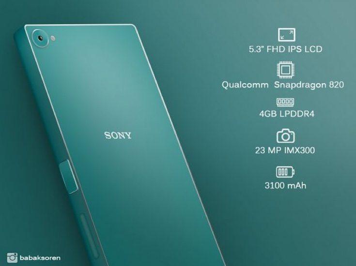 Sony Xperia Z5 Plus design