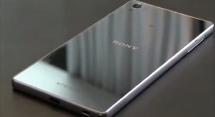 Sony Xperia Z5 in video showing, Premium 4K display