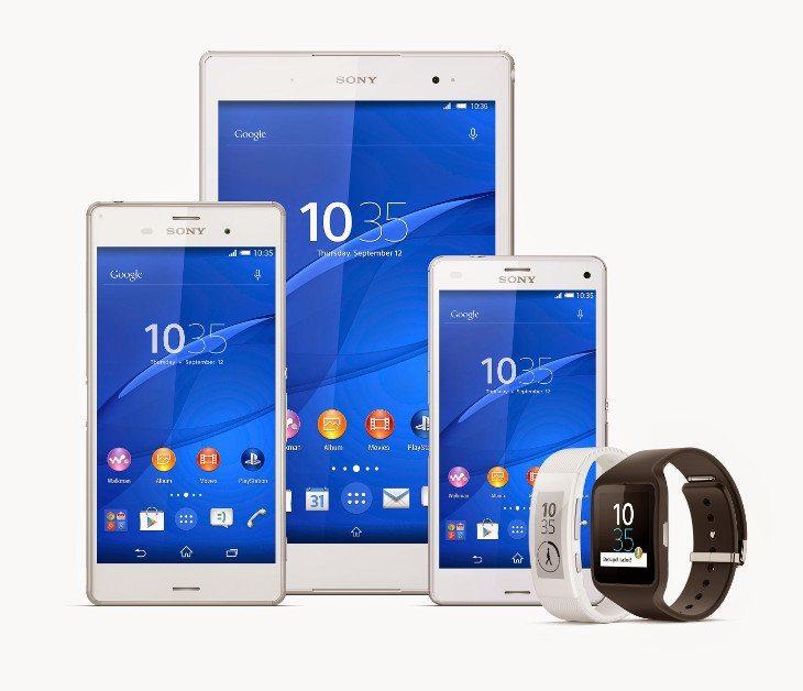 Sony Xperia Z3 lineup