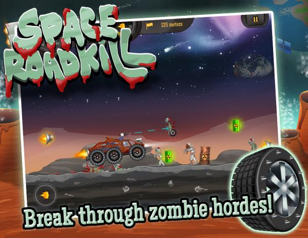 Space Roadkill for iOS, time to smash those Zombies