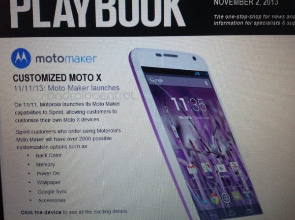 Sprint Moto Maker release to customize Moto X pic 1