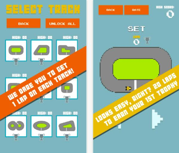 Squiggle Racer, simplistic retro Android & iOS game released
