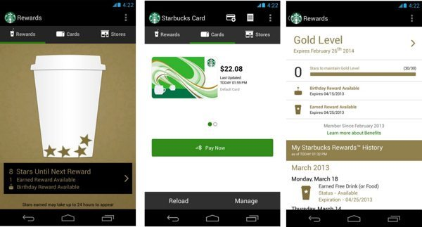 Starbucks app needs 2014 Android update