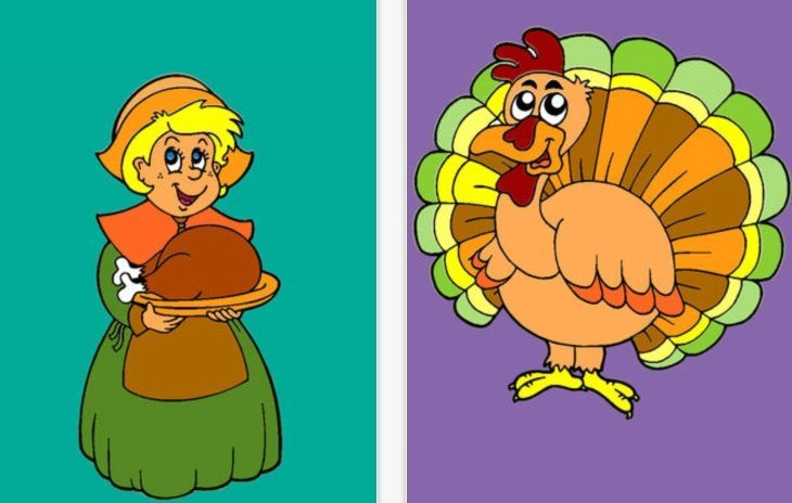 Thanksgiving coloring apps b
