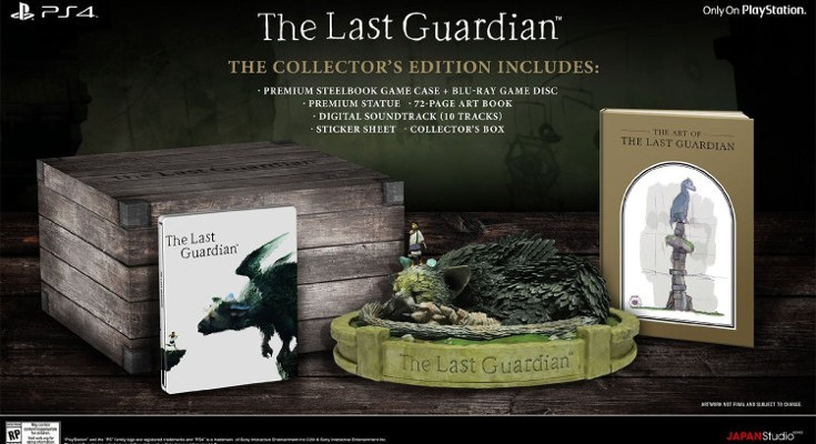 Last Guardian Collector's Edition is live on Amazon, release date set for October 25