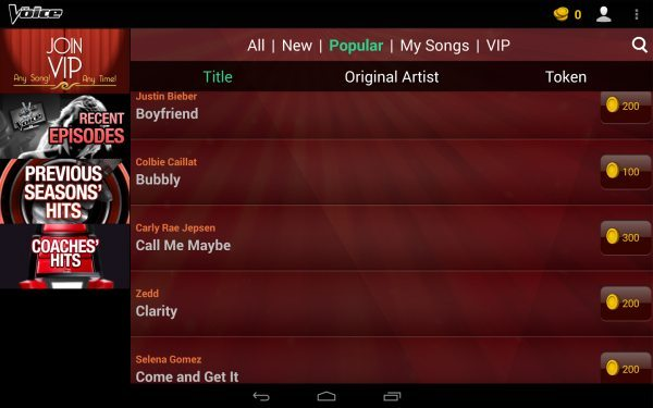 The Voice app game for singing sensations