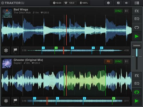 Traktor DJ iPad app, perfect for budding musicians of all levels