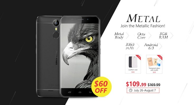 The New Ulefone Metal  Goes on Pre Sale for $109,99