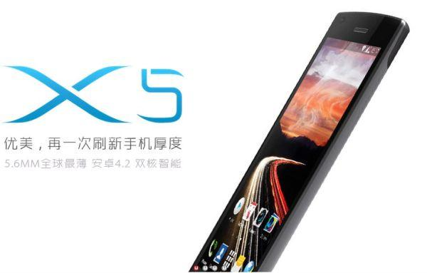 Umeox X5 vs Huawei Ascend P6 for slim smartphone title