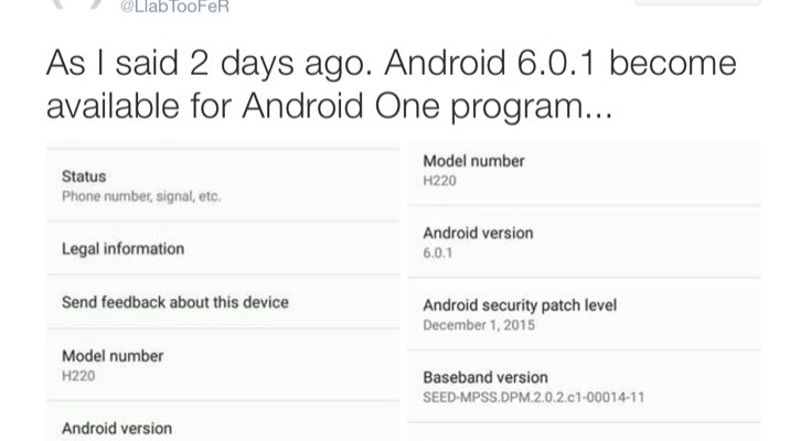 Update to Android 6.0.1 Marshmallow