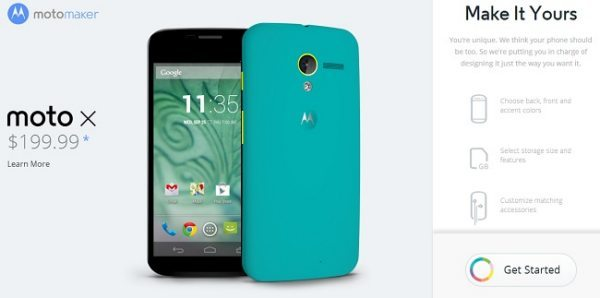 Verizon Moto Maker customization release for Moto X