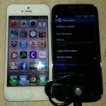Verizon Samsung Galaxy S4 mini, iPhone 5 side-by-side pic 1