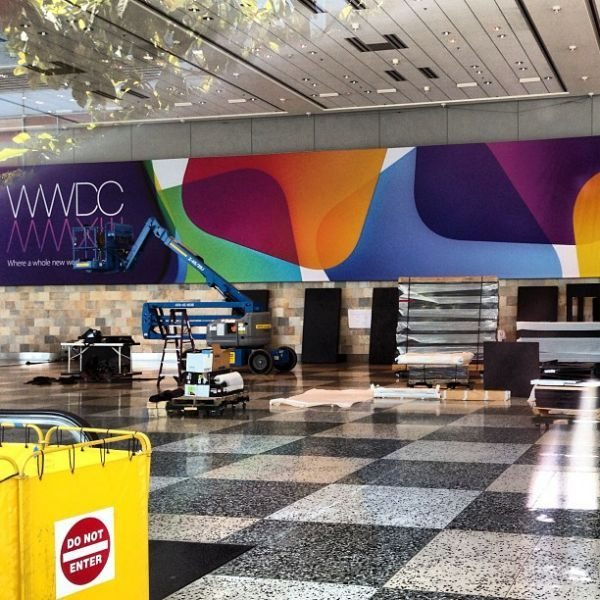 WWDC 2013 Apple banners depict new app icons